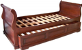 Mahogany Sleigh Day Bed with Hideaway Trundle Bed